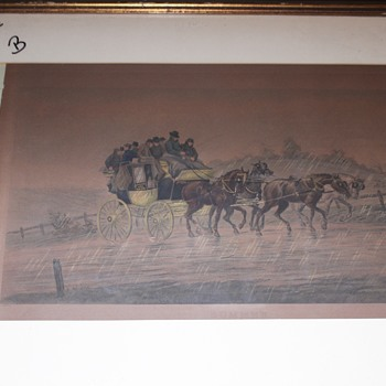 Very old Henry Alken Print Stage Coach, working on frame. - Fine Art