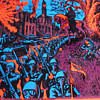 Vintage Houston Black Light Poster 1971 showing Anarchy in the Streets
