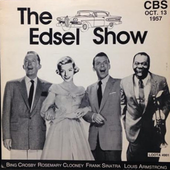 "33 RPM Recording of ""The Edsel Show""...1957 - Advertising"