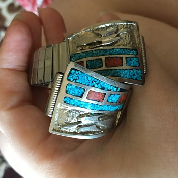 Turquoise watch band - Costume Jewelry