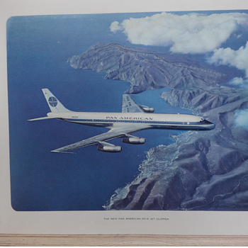 Raised relief picture, Pan Am DC-8 - Advertising