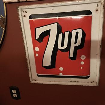 1962 7 up tin sign.
