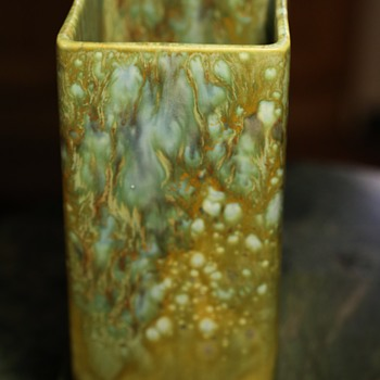 Signed Monterey Jade Vase - Pottery