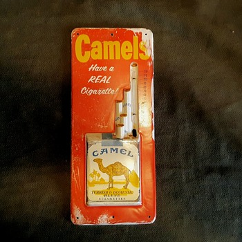 Camels Cigarettes 3D Thermometer Have a Real Cigarette 1950s - Advertising