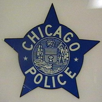 1960's Chicago Police Car Door Decal