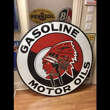 Red Indian Gasoline - Signs