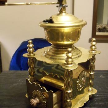 Solid Brass Coffee Grinder - Kitchen
