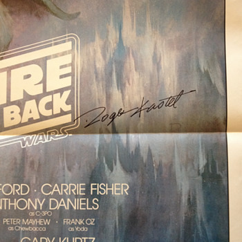 Roger Kastel, signed Empire Strikes Back poster - Movies