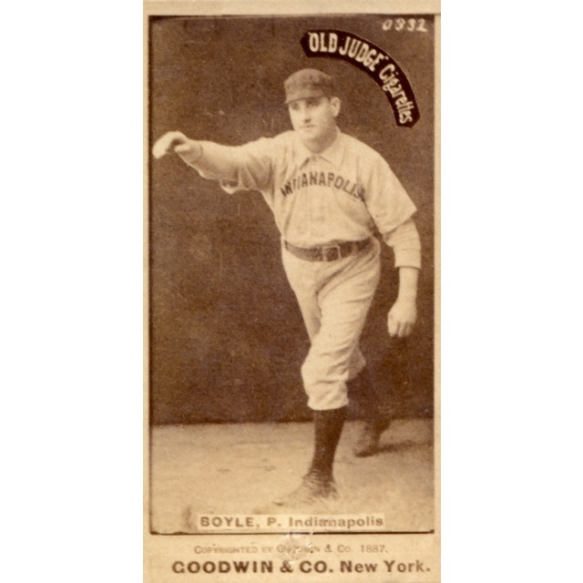 Goodwin Co Old Judge Tobacco Baseball Card Of Henry Boyle 1887