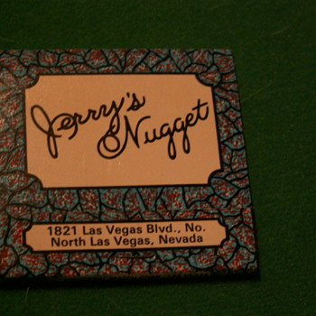 Vintage Jerry's Nugget ~ Las Vegas, Nevada (Very Northend Of the Strip) - Tobacciana