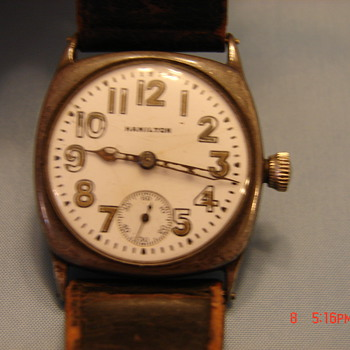 Vintage Hamilton 981 Wristwatch Cushion Sterling Fahys Case Rare or not?