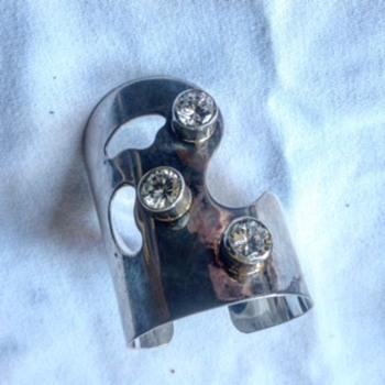 M. Kaye Modernist Sterling Bracelet - Fine Jewelry