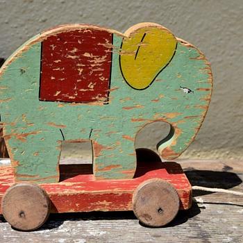 Elephant Pull Toy - Toys
