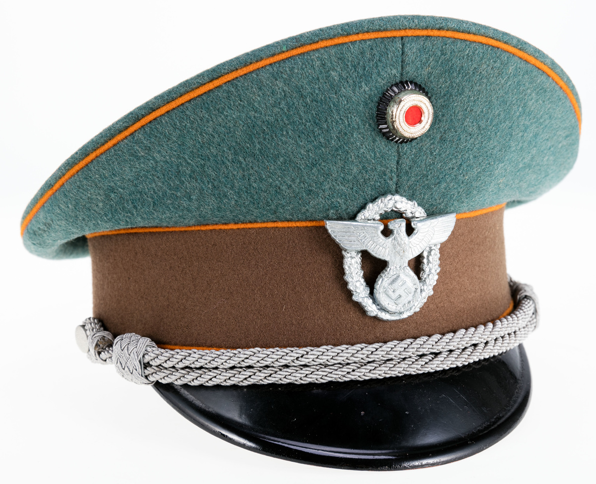 WWII German Visor Cap Of An Officer Of The Gendarmerie