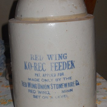 Red Wing Chicken Feeder - China and Dinnerware