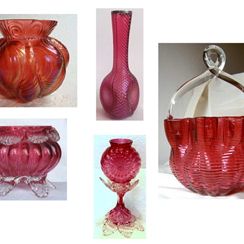 An Assortment of Kralik Cranberry Glass – Just kidding…. It's all Welz!!! - Art Glass