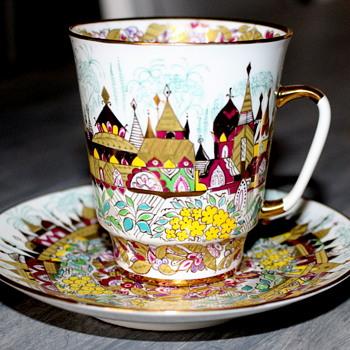 Russian Porcelain Tea Set - China and Dinnerware