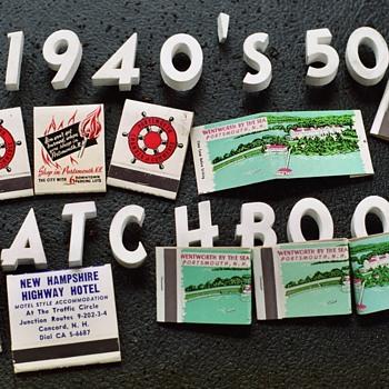 More 40's 50's Matchbooks - Tobacciana