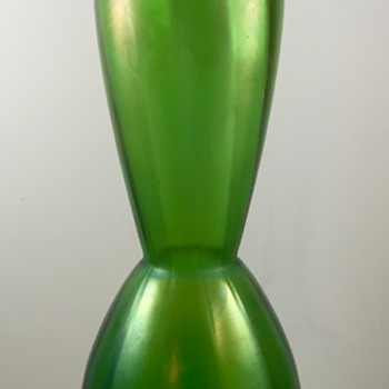 Glasfabrik Schliersee green rib optic vase, PN 282/I, ca. 1910 - Art Glass