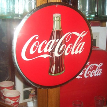 1950's Coca-Cola Celluloid Sign - Coca-Cola