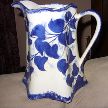 1945 colbalt blue buttermilk pitcher - Pottery
