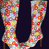 1960's MOD White GO GO BOOTS by Paloma Barcelo