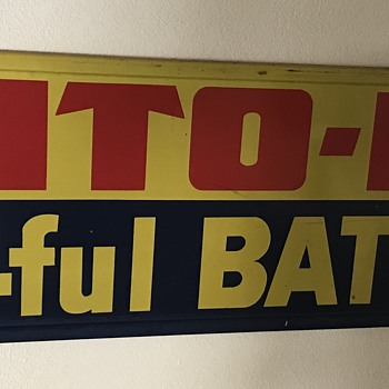 Auto -Lite  battery sign  - Signs