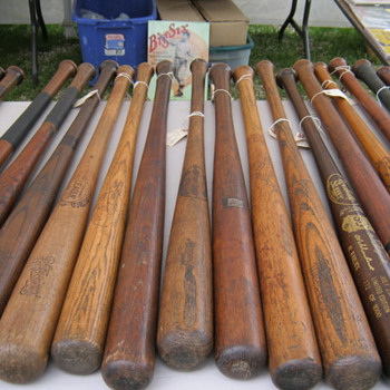 Baseball bats and mitts - Baseball