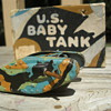 "WWI ""Animate Toy"" Baby Tank, tinplate and wood, 1916!"