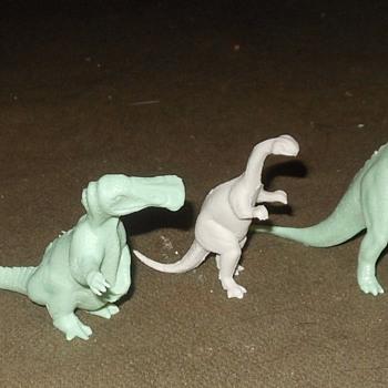 Marx Dinosaurs Hadrosaurus Plateosaurus and Parasaurolophus - Toys