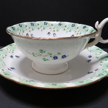 Antique Cup and Saucer - Adelaide Shape - 1831-1840's - China and Dinnerware