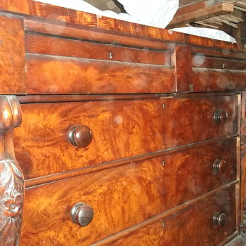 Old unknown dresser, hand carved scrolls can anyone help me find out more about it? - Furniture