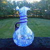 Blue and White Ruffled Pitcher