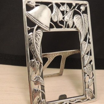 Old Sterling Silver photo frame - Art Nouveau