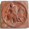 Templar Knight unglazed red clay tile