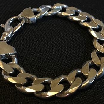 Chunky men's silver bracelet  - Fine Jewelry