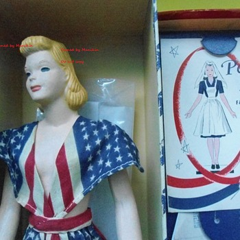 1940's Peggy McCall  Mannequin in Original Patriotic Flag Dress WWII