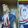 1940's Peggy McCall  Mannequin in Original Patriotic Flag Dress WWII