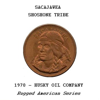 "Husky Oil Co. - ""Sacajawea"" Token - US Coins"