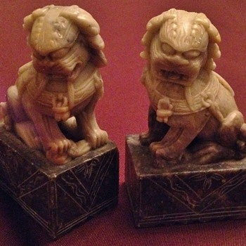 SoapStone Statues Lion cat Unknown Maker - Asian