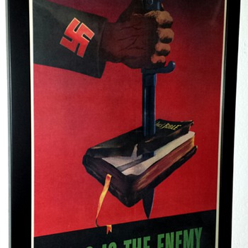 """Original """"This is the Enemy"""" WW II Offset Lithograph Poster - Posters and Prints"""