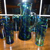 Antique Art Glass Pitcher and Glasses