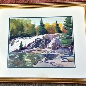 J. E. H. MacDonald, 1920 Watercolor, Magpie River, Michipicoten . - Fine Art