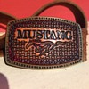 A lovely Leather Mustang Belt Buckle 1970???