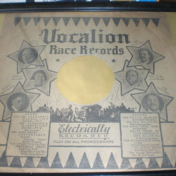 Vocalion Rare Blues Sleeve - Records