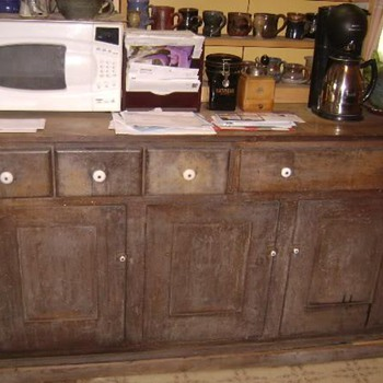 1885 Poplar Drysink Cabinet - Furniture