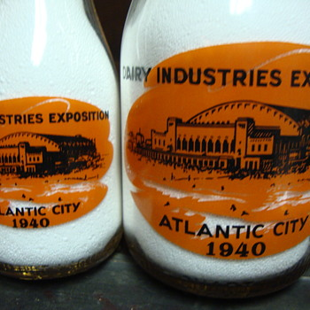 1940 Atlantic City Dairy Industries Exposition bottles.... - Bottles