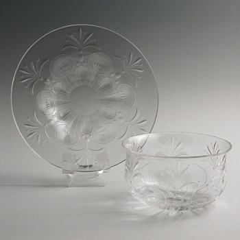 Mystery Cut Crystal Finger Bowls & Underplates, set of 6 - Glassware