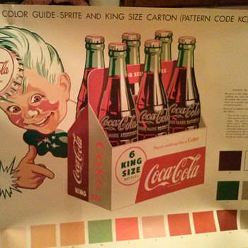 1955 paint guide for 10 n 12 foot billboards - Coca-Cola