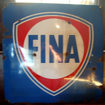 FINA Porcelain Sign - Signs